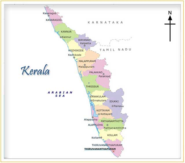 Map of Kerala